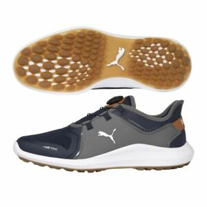 Puma Mens Ignite Fasten8 Disc Golf Shoes 19454104 - Navy/Silver - New 2021