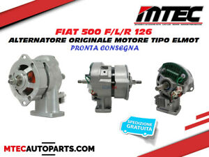 FIAT 500 F/L/R 126 ALTERNATORE ORIGINALE MOTORE TIPO ELMOT REVISIONATO 63300905