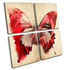 Butterfly Illustration MULTI CANVAS WALL ART Picture Print VA