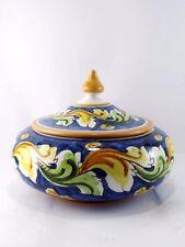 Biscottiera contenitore dolci  decorata a mano in ceramica di Caltagirone H 15