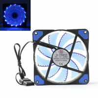 1¡Á 120mm 3 4 Pin CPU Sleeve Bearing Cooling Fan Computer 15 LED Light 12V Blue