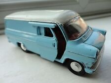 Dinky Toy Ford Transit Van 407 Luz Azul Diecast Antigua Coleccionable
