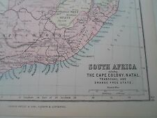 Antique Map 1890 - S AFRICA+CAPE COLONY - From Philips Atlas For Beginners  §24