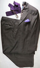 NAUTICA Nemo Mens Suit Jacket Blazer 3-Button Vented Wool Brown Pleated 42 R