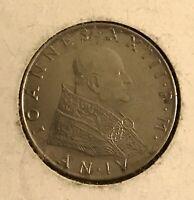 1962 Vatican City 50 Lira Coin