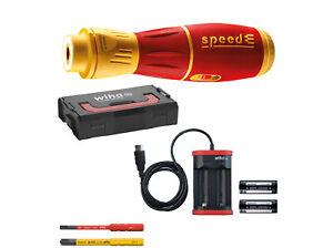 Wiha E-Schrauber speedE II electric Set mit SlimBits in L-Boxx Mini 7tlg.