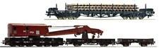Roco H0 66964 Bauzug SCHIENEN Rs + KRAN 2x Flachwagen NS Ep.4 NEU zu 72012 73830
