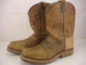 """Mens 14 2E EE Double-H Dwight 11"""" Wide Square Steel Toe I.C.E. Roper Work Boots"""