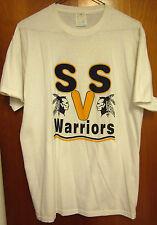 WARRIORS West Virginia High School lrg T shirt SSV beat-up tee Native American