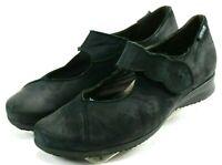 Mephisto Women's $120 Mary Jane Slip-on Comfort Shoes Size 9 Leather Black