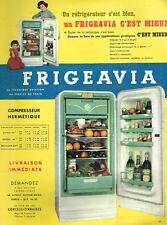 C- Publicité Advertising 1955 Refrigerateur Frigeavia