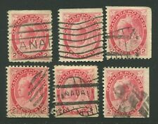CANADA #77b USED RECONSTRUCTED BOOKLET PANE F/VF