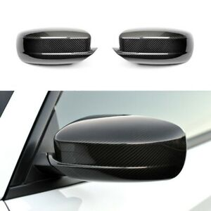 For 2011-2020 Dodge Charger Black Carbon Fiber Print Look Side Mirror Covers