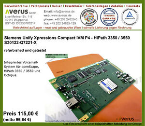 unify Siemens Xpressions Compact IVM P4 Hipath 3350 3550 Octopus F IVMP4/ Re_MwS