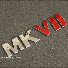 MKVII CHROME RED Stivale PORTELLONE EMBLEMA BADGE ADESIVO GOLF MK7 Segno 7 GTI R VW *