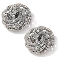 Technibond Rosetta Love Knot Earrings Platinum Clad Sterling Silver