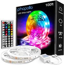 Phopollo 100Ft Led Strip Lights, 5050 Led Lights For Bedroom, Kitchen, Home Deco