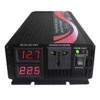 1000W 1500W 2000W Pure Sine Wave Power Inverter 12V 24V 48V DC to 120V 230V AC