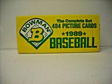 1989 Bowman Baseball Card Set