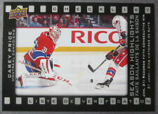 2015-16 UD Tim Hortons Season Highlights #SH-3 Carey Price Montreal Canadiens