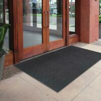 Door Mat 4 x 6 ft. Rubber Rug Commercial Indoor Outdoor Heavy Duty Large Black