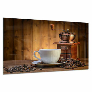 Tempered Glass Photo Print Wall Art Picture Coffee Grinder Beans Prizma GWA0351