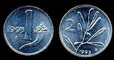 1 Lira  +  2  Lire 1993  FDC ass.