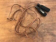 Valeo Leather Jump Rope With Molded Handles And Foam Grips (HD9)