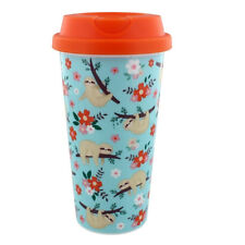 Fun Sloth Travel Mug coffee tea cup for travelling with lid