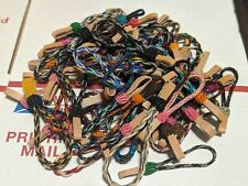 HAND BRAIDED HORSEHAIR KEYCHAINS MADE IN MONTANA STATE PRISON GROUP OF 10 RANDOM