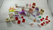 Vintage Lot of Plastic Dollhouse Furniture Made in Hong Kong