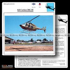 #117.04 BELL CARDOEN 206 L III (Hélicoptère) - Fiche Avion Airplane Card