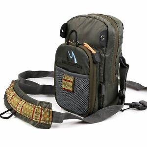 Men Backpack Sling Fly Fishing Chest Pack Shoulder Bag Outdoor Hiking Travel