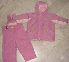 Ensemble ski manteau doudoune ET salopette rose DECATHLON 18 MOIS
