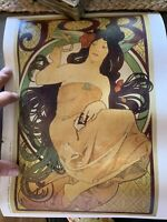 Alphonse Mucha Art Nouveau Deco Print Beautiful Lot