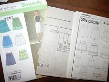 Simplicity 4185 Skirts UC FF 8 - 16 Womens Denim Cotton Corduroy Sewing Pattern