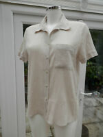 LADIES SHIRT BY MARKS & SPENCER SIZE 12 FLAX MIX COLOUR 100% COTTON CRINKLE