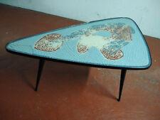 Table basse vintage tripode dessus verre 110 x 70