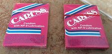 Two (2) Caress Condom With NP-9 Lubrication New Old Stock