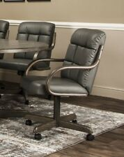 Caster Chair Company Gale Swivel Tilt Caster Arm Chair in Charcoal