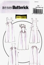 Butterick Pattern B5509 Women's Historical Apron Costume S-L Making History 5509