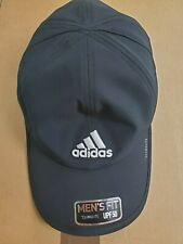 Adidas Men's Fit Climalite UPF50 Adjustable Strap Cap, Black - NEW