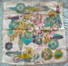 Vintage Marielle - Taj Mahal 00006000  Very Mod Vibrant Hankie  Very Good