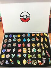 Pocket Monster Pokemon: Kanto Gym Badges Set of 58 Metal Pins+box Anime Pikachu