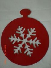 Christmas Coffee Stencil Snowflake Measures approx 100 mm Red Metal