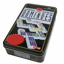 DOMINOES DOUBLE 9 NINE SET Colour Dots - Strategy Tile Game
