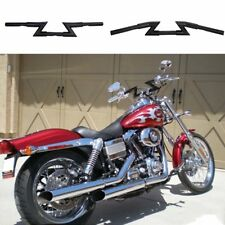 "Black Crazy 1"" Z-Bars Handlebars for Harley Sportster Dyna Softail Motorcycle US"