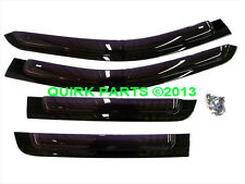 11-18 Grand Cherokee SIDE WINDOW AIR DEFLECTORS FRONT & REAR SET 4 OEM NEW MOPAR