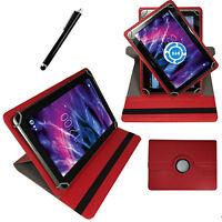 Hülle für Odys NoteTab PRO LTE Schutz Tasche 10 Zoll Tablet Etui 360° Rot