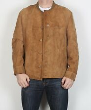 "Suede Jacket Fitted Leather coat Medium 40"" Brown 70's (6JBO)"